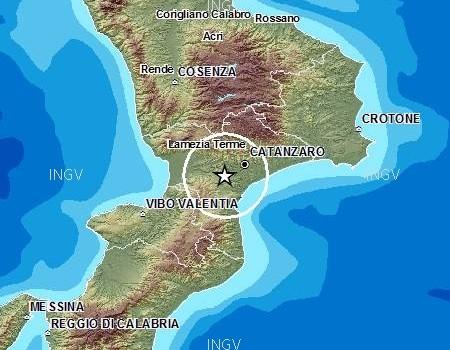 Terremoto Lamezia Terme e istmo dei due mari, tre scosse di magnitudo 2.7 e 3